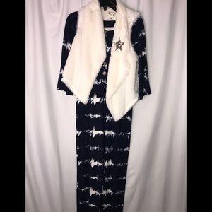 Bella Du Jour 2pc Jumpsuit with vest